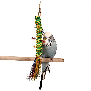 Woven Wonders Palm Caterpillar Parrot Toy - Small