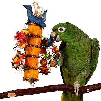 Planet Pleasures Bird Tower Preening Parrot Toy - Medium