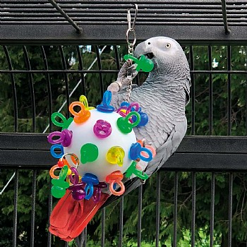 Super Binkies Hanging Wiffle Ball Parrot Toy - Large