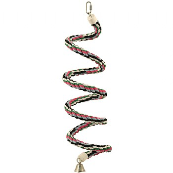 Parrot Boing - Cotton Spiral Bouncing Perch - Medium