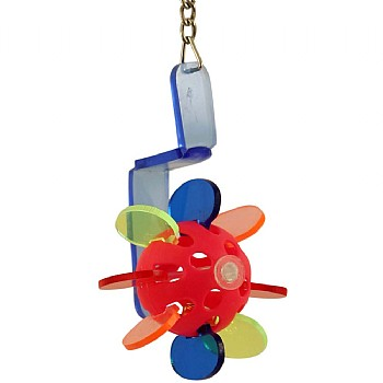Paddle Playball Acrylic Parrot Toy
