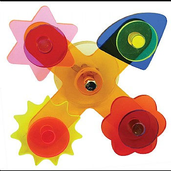 Acrylic Shapes Spinner Parrot Toy