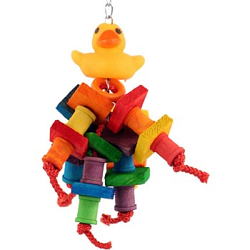 Davie Duck Wood & Rope Parrot Toy