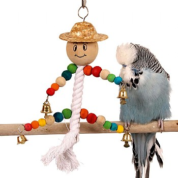 Northern Parrots Mini Man Hanging Parrot Toy