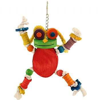 Freddie Frog Wood & Rope Parrot Toy