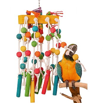 Daddy Long Legs Giant Wood & Rope Parrot Toy