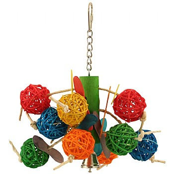 Vine Ball Tree Hanging Parrot Toy