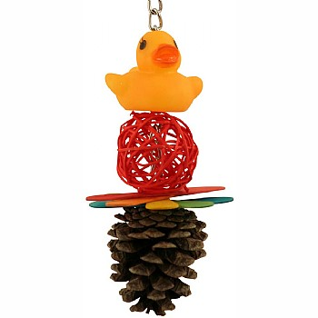 Quackers for Vine Cones Hanging Parrot Toy