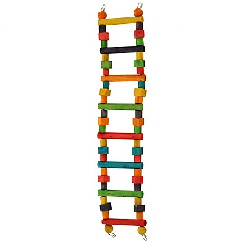 Rainbow Wooden Parrot Ladder - Large