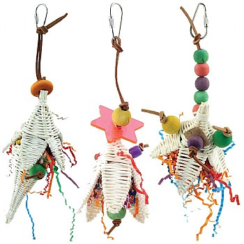 Shred, Preen & Forage Flowers Parrot Toy Kit