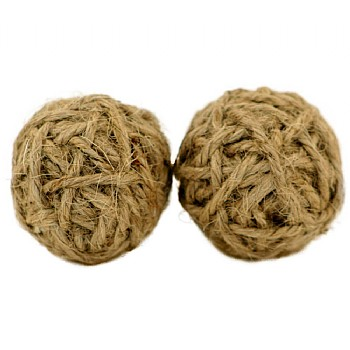 Mini Jute Rope Balls -  Parrot Chew Toy