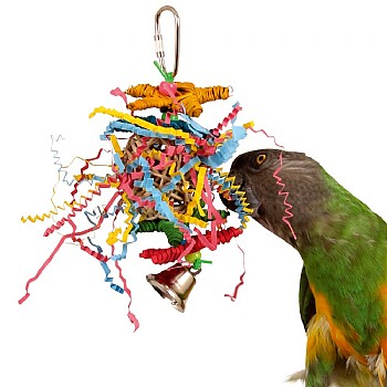 Superbird Crinkle Crinkle Little Star Hanging Chew Toy for Parrots