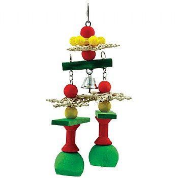 Jingle Bells Stack - Christmas Parrot Toy