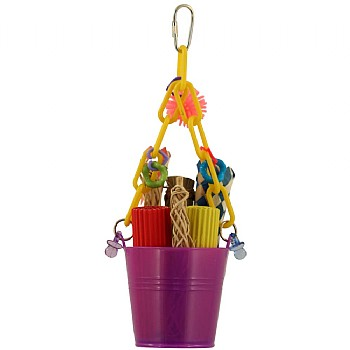 Foraging Pail Parrot Toy
