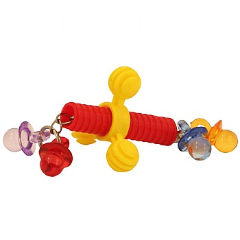 Wing Nut Rattle Foot Toy for Parrots