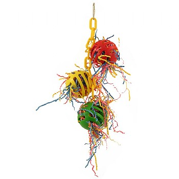 Hanging Waffle Ball Stuffers Foraging Parrot Toy