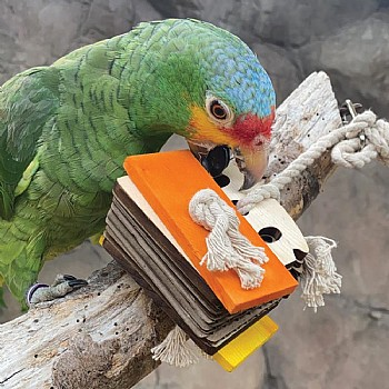 Zoo Max Birdie Bread Chewable Foraging Toy for Parrots