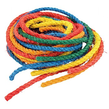 Coloured Sisal Ropes - Parrot Toy Making Parts - Pack of 6