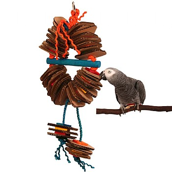 Zoo Max Shredding Coronet Parrot Toy - Large