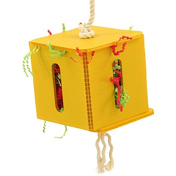 Zoo Max Foraging Cube - Hanging Parrot Toy - Large