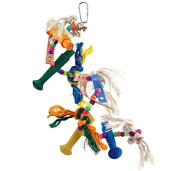 Zoo Max Helter Skelter Spiral Parrot Toy