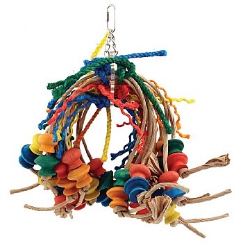 Itsy Bitsy - Paper Rope Spiddy Parrot Toy - Jumbo
