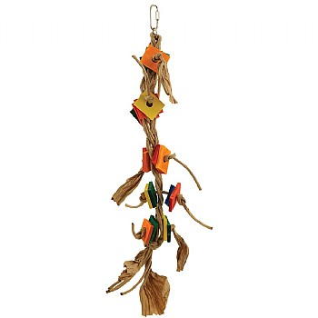 Zoo Max Tango Dancer Wood & Rope Parrot Toy