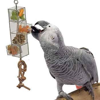 Foraging Tower - Mentally Stimulating Parrot Toy