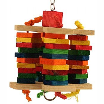 Rainbow Crisscross Parrot Toy - Medium