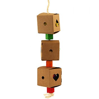 Triple Foraging Box Stack Parrot Toy - Small