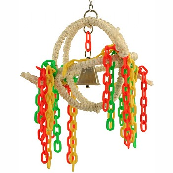 Sisal Sphere Parrot Activity Toy