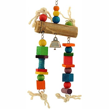 Bamboo Log Parrot Toy - Medium