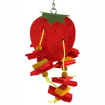Strawberry Chewable Parrot Toy
