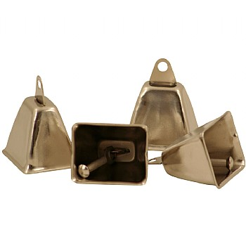 Paradise Toys Medium Cowbells - Parrot Toy Parts - Pack of 4
