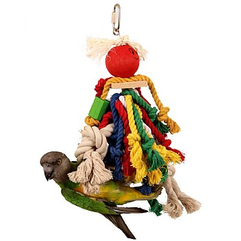 Rope Man with Bell - Popular Parrot Toy