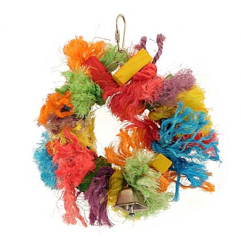 Paradise Toys Coloured Sisal Ring Parrot Toy