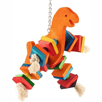 Dino Fun - Coloured Wood Parrot Toy - Large