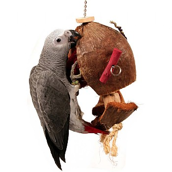Coco De Nut - Large Natural Parrot Toy