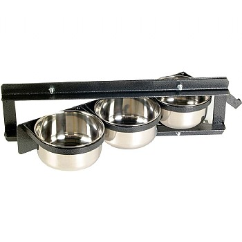 Assorted Brands Swing Feeder - 3 Dish - Parrot Feeding Bowl