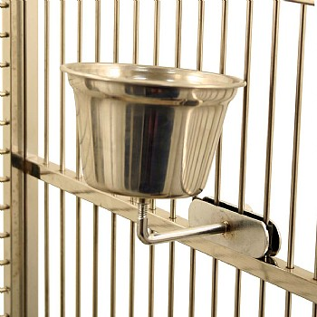 Stainless Steel Cup for Parrots - Medium