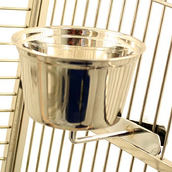 Stainless Steel Cup for Parrots - Large
