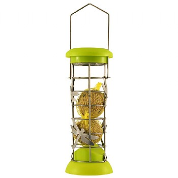 Funky Wild Bird Small Fat Ball Feeder - Choice of 2 Colours