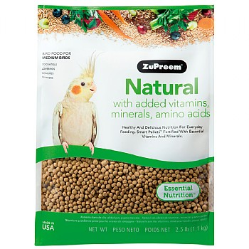 ZuPreem Natural Medium - Complete Food for Cockatiels