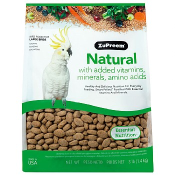 ZuPreem Natural - Complete Food for Large Parrots