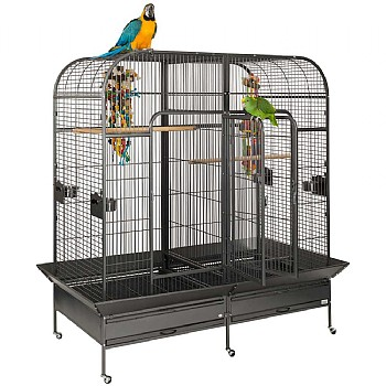 Endeavour Large Parrot Cage with Divider - Antique