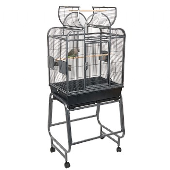 Mini Santa Fe Top Opening Parrot Cage with Stand - Antique