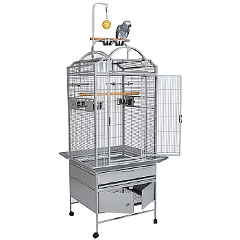 Cuba Open Top Parrot Cage with Removable Play Gym Stand