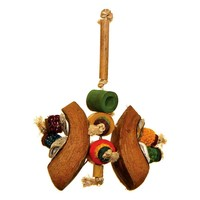 Maggie`s Cocktail Mix Natural Parrot Toy - Medium
