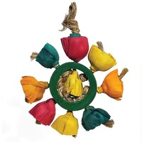 Woven Wonders Blossom Ring Parrot Toy
