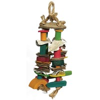 Woven Wonders Coloured Cluster Parrot Toy